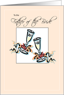Father of the Bride Toast card