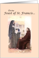 St. Francis of Assisi Feast Day Card