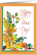 Fall Leaves Boss Day Card