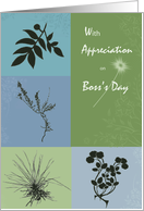 Botanicals Boss's Day card
