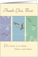 Birds, Thank You, Boss's Day card