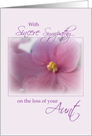 Sympathy Loss of Aunt, Flower card
