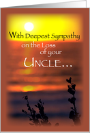 Sympathy Loss of Uncle, Sunset card