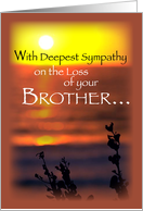 Sympathy Loss of Brother, Sunset card
