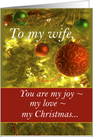 Wife, Elegant, Beautiful, Love, Christmas card
