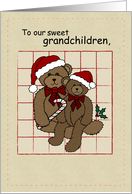 Happy Holiday Bears for Grandchildren card
