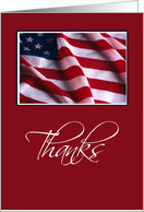 Patriotic Flag Thanks card