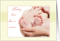 Congratulations Religious New Baby Feet card
