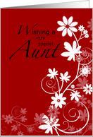 Aunt, Valentine's Day card