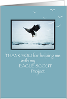 Thank You Help with Project, Eagle Scout card
