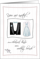 Invitation to Rehearsal Dinner and Wedding Brunch card