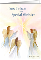 Minister, Birthday, Angels card