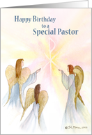 Pastor, Birthday, Angels card