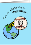 13th Birthday Baseball card