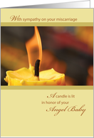 Sympathy Loss of Baby, Candle, Angel Baby card