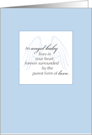 Sympathy Miscarriage, Angel Baby card