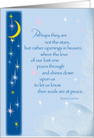 Miscarriage Sympathy, Angel Baby, Sky and Stars card