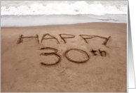 30th Birthday, Beach card