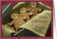 Christmas Party Invitation, Gingerbread Cookies card