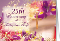 25 Year Anniversary of Religious Life card