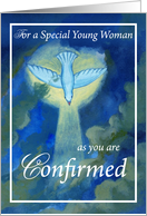 Young Woman, Confirmed, Blue card