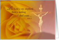 Remembrance of Sympathy Thank You, Lord is Shepherd, 23rd Psalm card