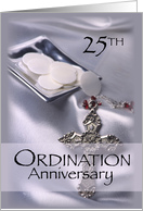 25th Ordination Anniversary Cross, Host card