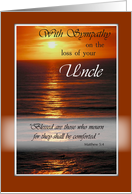 Uncle, Christian Sympathy and Religious Condolences, Ocean, Sunset card