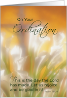 General Ordination, Congratulations Christian Ordained card