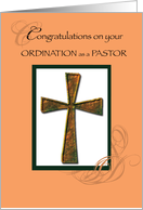 Pastor Ordained Christian Ordination card