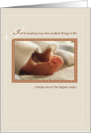 Baby Shower, Baby Feet, congratulations card