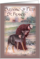 Feast of St. Francis, Blessing of Pets card