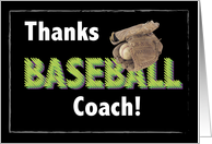 Baseball Coach, Thank You card