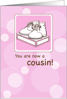 Congratulations on Baby Girl Cousin card