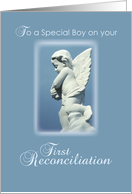 First Reconciliation for Boy, Angel card