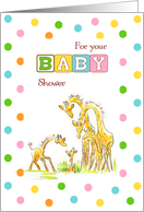 Baby Shower Giraffe card