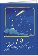 Adoption Anniversary 19 Years, Night Sky with Adopted Shooting Star card
