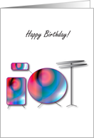 drums Happy Birthday card