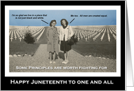 Juneteenth Emancipation Freedom Day Vintage card