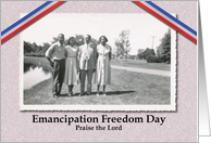Juneteenth Emancipation Freedom Day Vintage African American card