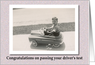 Congratulations Driver's Test Vintage card