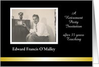 Customize Retirement Invitation, Photo Card - add name card