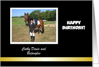 Customize Birthday Horse card
