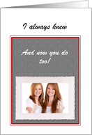 Custom Coming Out Announcement Photo Card - Lesbian card