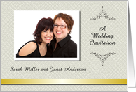 Custom Wedding Invitation lesbian - Photo Card