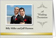 Custom Wedding Invitation gay - Photo Card