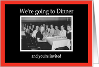 Dinner Party Invite card