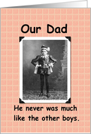 Our Dad card