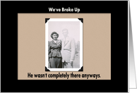We Broke Up card