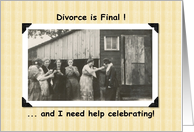 Divorce is Final Invite card